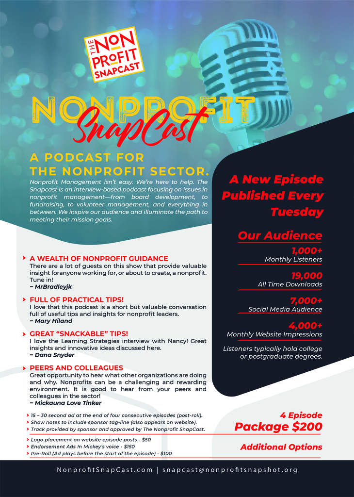 Sponsorship: Sponsor the Nonprofit SnapCast